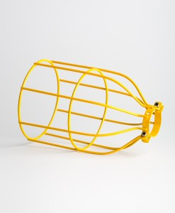 yellow industrial bulb cage