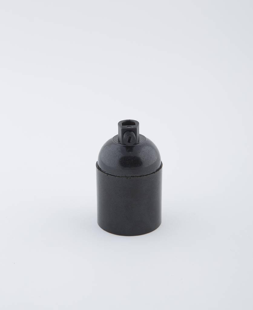 domino black e27 Bakelite bulb holder