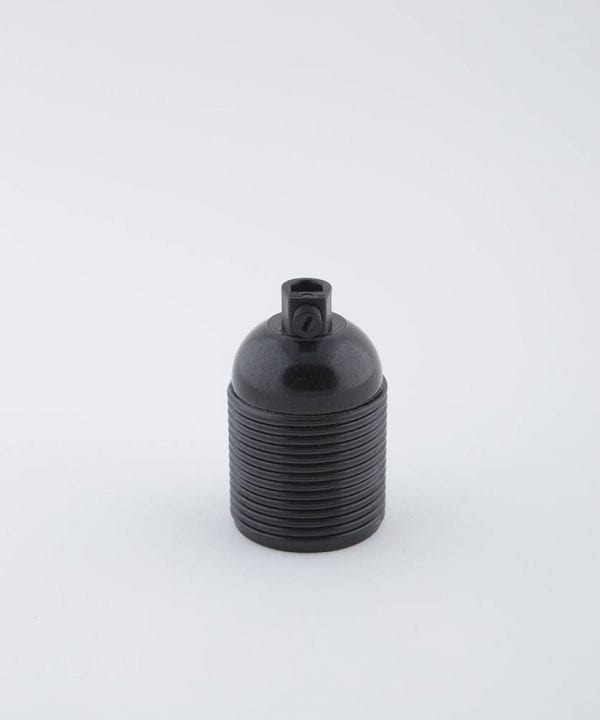 domino black e27 bakelite threaded bulb holder