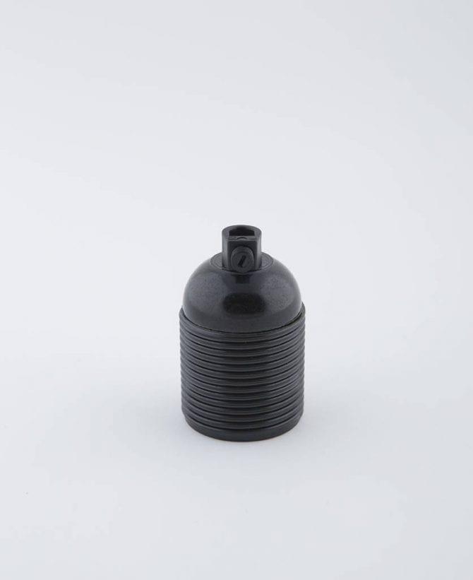 domino black e27 bakelite threaded bulb holder