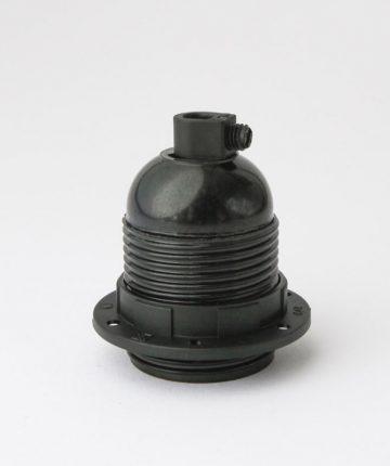 E27 Bakelite light bulb socket with shade ring