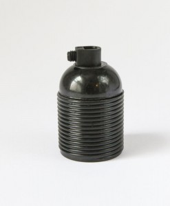 Black Bakelite Lamp Socket