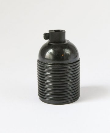 BLACK BAKELITE E27 Threaded