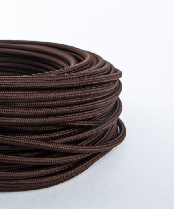 earthy brown fabric cable for lighting