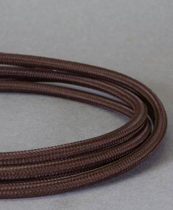 brown fabric cable for lighting