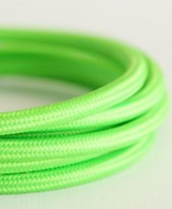 Italian fabric cable green