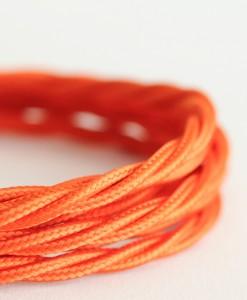 Italian fabric cable orange
