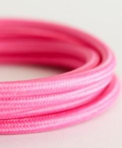 Italian fabric cable pink