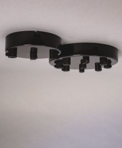 black multi outlet ceiling rose