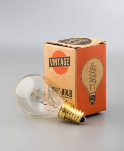 spiral filament vintage light bulb small chandelier