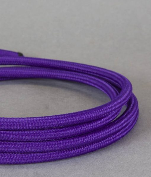 purple fabric cable