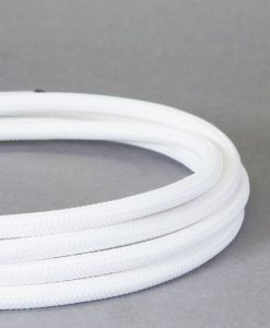 fabric cable for lighting white