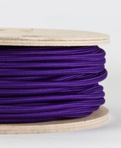 fabric lighting cable purple