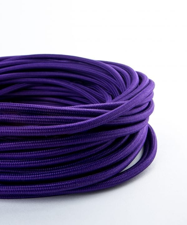 imperial purple fabric cable