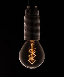 E14 chandelier small ball bulb with spiral filament