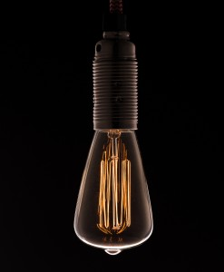 Vintage Chandelier Light Bulb Pear E14