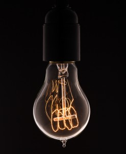 Vintage Light Bulb Quad Loop Filament