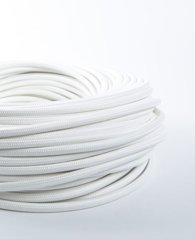 white fabric cable for lighting