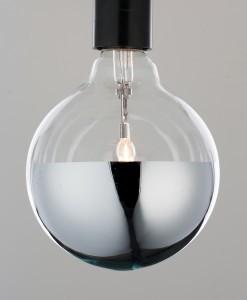 Mirror & Plumen light bulbs