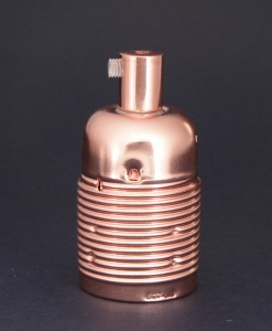 E27 Light Bulb Holder Domed Copper Lamp Holder