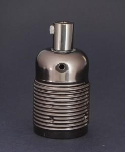 E27 Light Bulb Holder Domed Black Lamp Holder