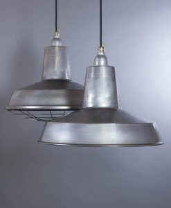 Linton Raw Steel Industrial Lighting - Steel Factory Lighting Ceiling Pendants