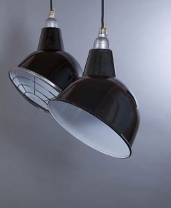 Oulton Black Industrial Lighting - Enamel Industrial Ceiling Lights