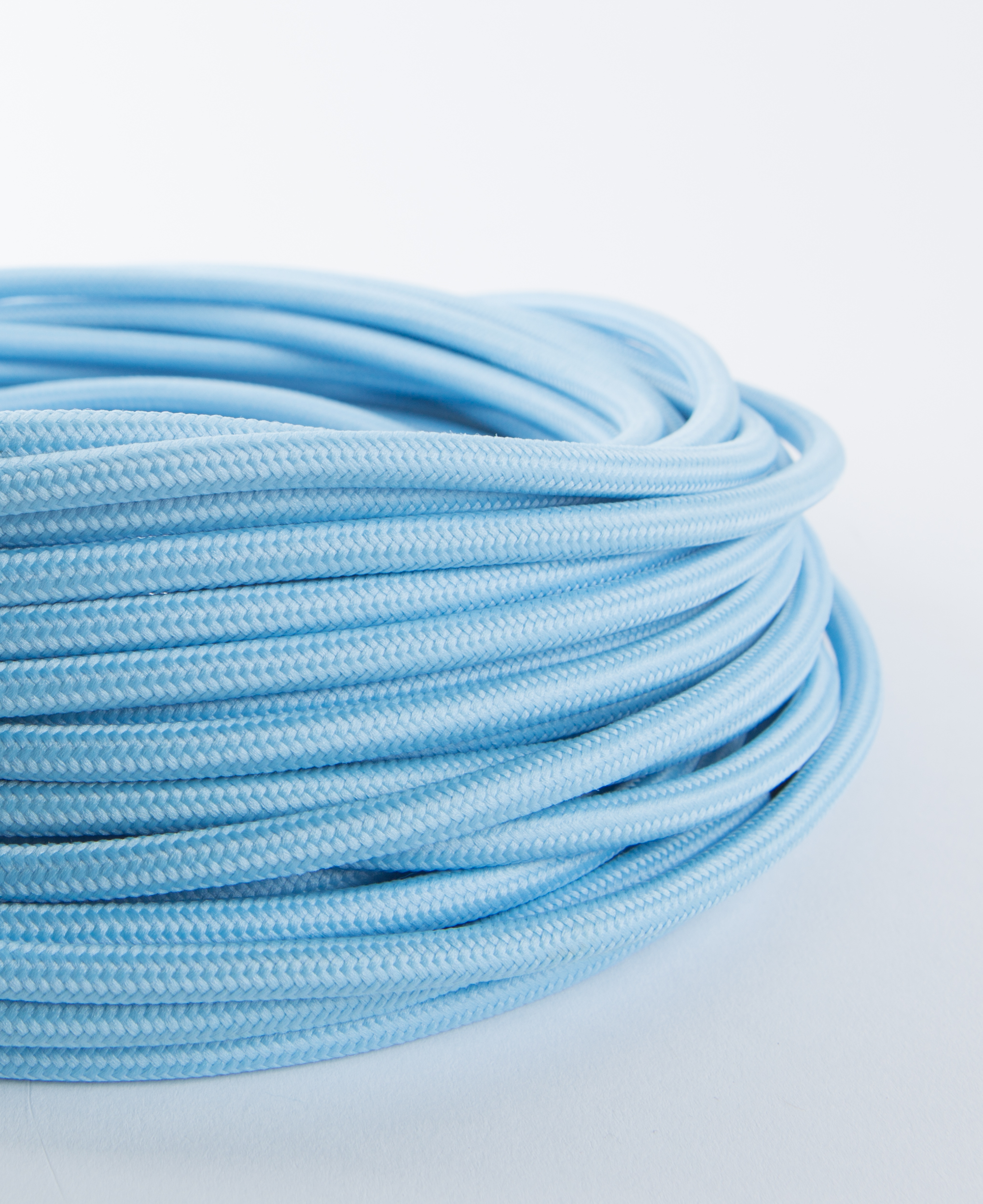 Blue Emulsion Fabric Cable Lighting Wire CE Certifed