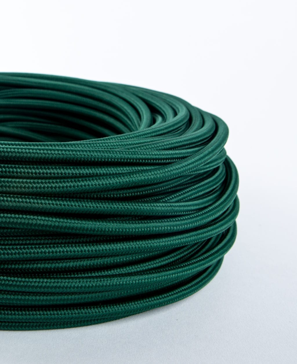 bottle green fabric cable