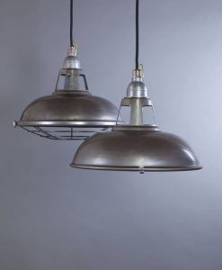 Farsley raw steel industrial lighting is perfect for adding a raw edge to your interiors