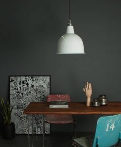 white industrial style lighting