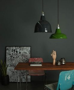 factory style enamel pendant lights