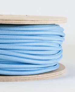 fabric lighting cable pale blue