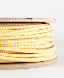 fabric lighting cable yellow and white