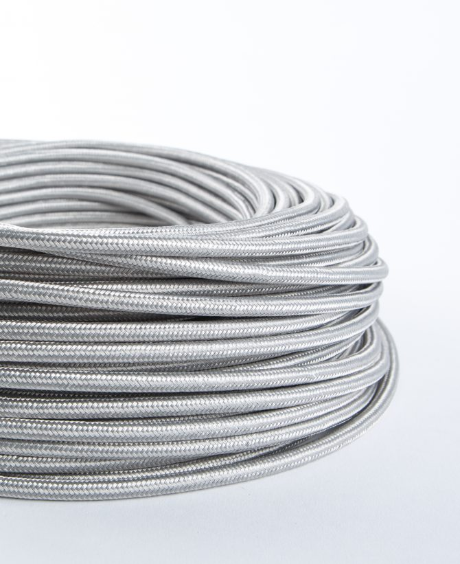 silver fabric cable for lighting