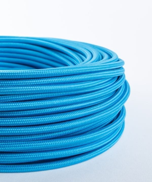 summer's blue fabric cable
