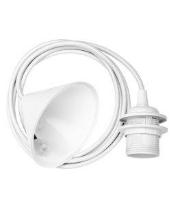 Vita White Ceiling Pendant Cord Set