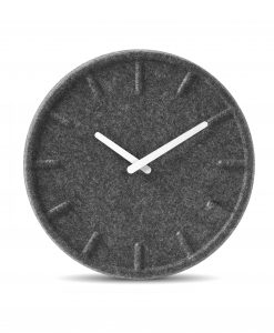 grey felt wall clock
