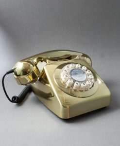 METALLIC GOLD RETRO HOUSE PHONE | Icon 60 Telephone