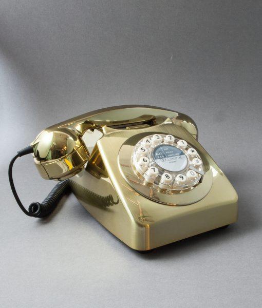 METALLIC GOLD RETRO HOUSE PHONE | Icon 60 Telephone