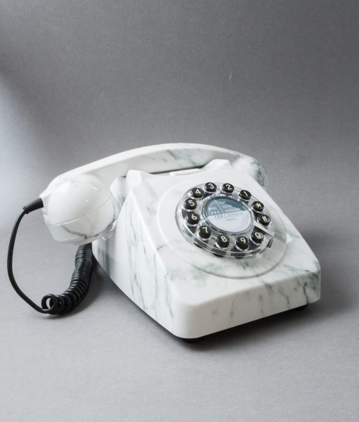 WHITE MARBLE ICON 60 TELEPHONE | Retro House Phone