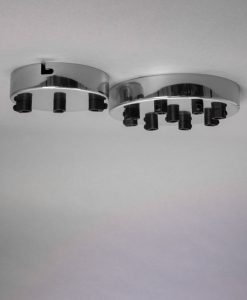 silver multi outlet ceiling rose