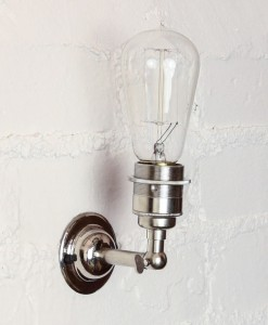 Vintage light bulb wall light-10