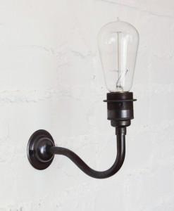 Vintage light bulb wall light