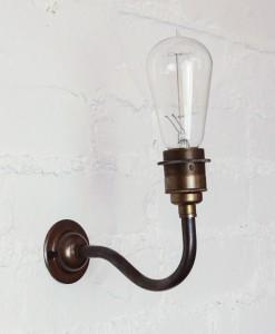 Vintage light bulb wall light-5