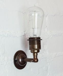 Vintage light bulb wall light-9