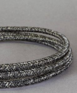 grey textured fabric cable for lighting