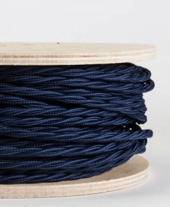 twisted fabric lighting cable navy