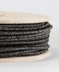 grey textured fabric lighting cable