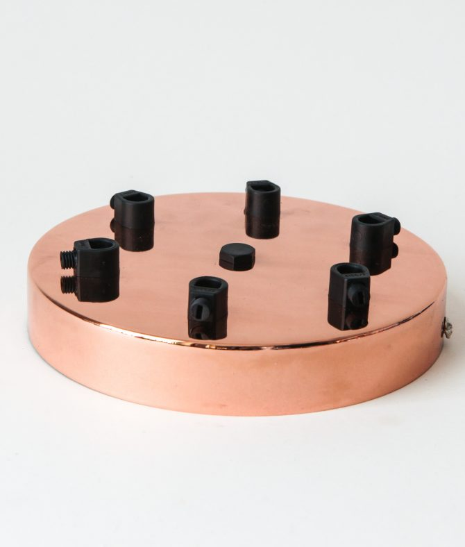 6 point polished copper rose
